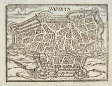 Augsburg Augusta  Bayern  sehr seltener echter alter Holzschnitt von Saur 1610