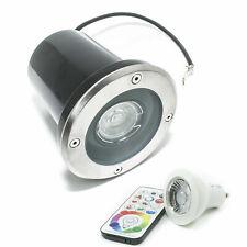 Recessed Soil Walk On Adjustable IP65 LED 6W Spotlight GU10 RGB + 6000K