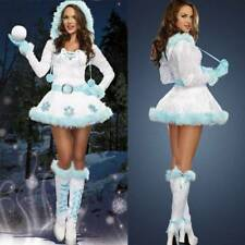 Womens Xmas Snowman Costume Christmas Santa Cosplay Fancy Sexy  Dress Outfit UK