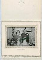 Antique Photo in Folder -Neligh, Nebraska - Older Man & Lady & 2 Cakes