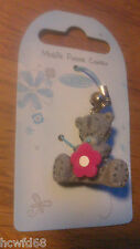 Me To You Mobile Phone Handbag Or Key Charm Bear With Bell & Flower 1""
