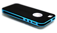 PC ShockProof Dirt Dust Proof Black/Teal Hard Matte case cover for iPhone 5 5S