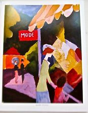 August Macke Poster of Fashion Window 1923 Unsigned Offset Lithograph 14x11