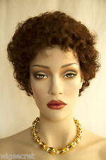Deepest Red Short Curly Wigs
