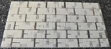 Naturstein Marmor Mosaik 30x60x1cm weiss-braun-grau