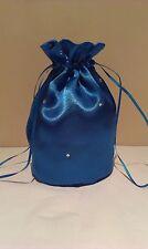 ROYAL BLUE SHINY SATIN + DIAMANTE DOLLY BAG.BRIDE / WEDDING