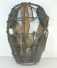 VINTAGE EARLY 1900'S LOOP AND CLIP CATCHER'S MASK