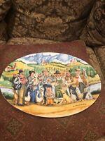 "Williams Sonoma Perigord Guy Buffet Porcelain 16"" Oval Platter Germany"