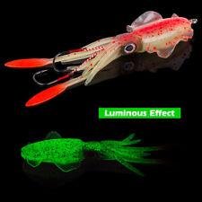 Soft Squid Lures Saltwater Octopus Bait 20g 60g Luminous Wobbler Fishing Lures