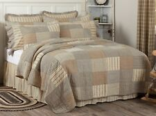 Oversized King Quilt Hand-Stitched Country Block Patchwork Farmhouse Sawyer Mill