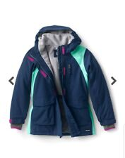 Lands' End Big Girls Squall Waterproof Winter Parka $112 Size S (7-8)