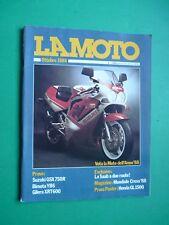 LA MOTO Ottobre 1988 Suzuki GSX 750R Bimota YB6 Gilera XRT600 GareCross +inserto