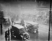 Street scene after a fire in a New York City subway tunnel in 1915 Photo Print