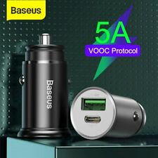 Baseus 30W USB Car Charger QC4.0 VOOC SCP Fast Charge Adapter for Samsung iPhone