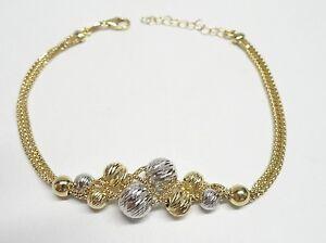 Armband Gelbgold Kugel Kugeln Diamant Räder 18 KT 750 -M.O 16