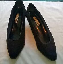Vintage 1990s Black Suede Ravel Brand, Mid Heel Smart/Court Shoe/UK 6/Euro 39
