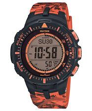 Casio Protrek Solar Triple Sensor Orange Camo Mens Watch Prg300cm-4cr