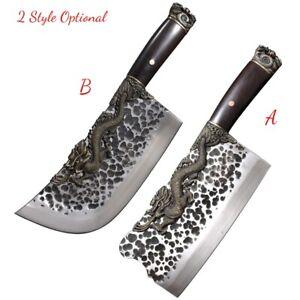 Dragon Meat Cleaver Chopping Knife Kitchen knife SandwichSteel San Mai III #5151