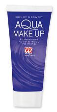 Aqua Make Up Tube blau NEU - Styling Schminke Karneval Fasching
