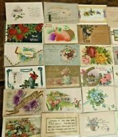 Lot of 42 Antique Holiday Postcards  Quality!  Santa NY Bday Easter Greetings