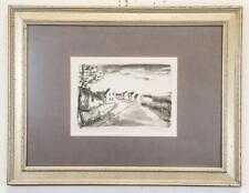 MAURICE DE VLAMINCK Original 1925 Hand Signed Lithograph Nelle-la-Vallee Route