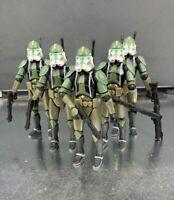 "Lot of 5 Star Wars Republic Commander Gree Clone Trooper 3.75"" Loose Figure"