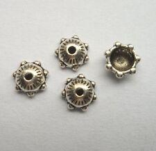 100pcs Tibet silver Flower End Beads Caps 6x2 mm