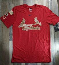 New St. Louis Cardinals NIKE Camo Athletic Cut MLB T SHIRT RED Sz Medium Rare