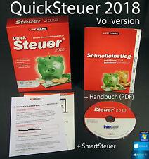 Lexware QuickSteuer 2018 Vollversion Box, CD, Handbuch (PDF) Steuerjahr 2017 NEU