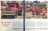 1958 Chevrolet Truck Vintage Advertisement Print Art Car Ad Poster LG78