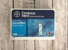 Bayer Contour Next Blood Glucose Test Strips Self Testing 100ct 7312 NO Coding