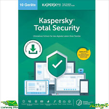 KASPERSKY Total Security 2021 10 PC 1 Anno Versione Full/upgrade 2020 de-licenza