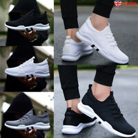 UK Mens Pumps Running Sports Casual Trainers Lace Up Shoes Breathable SIZE3-11.5