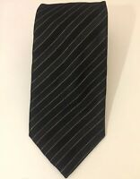Donald J Trump Signature Tie Collection 100% Silk Black Gold Striped Necktie