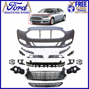 FORD FUSION 2013-2016 FRONT BUMPER COVER KIT PRIMED COMPLETE OE NEW DS7Z-17D957