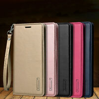 F Samsung Galaxy S8+ Plus/S7 Edge Magnetic Flip Leather Wallet Stand Case Cover