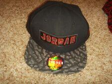 3b49f331c1b Nike Air Jordan Black Red Jumpman Adjustable Snap Back Hat