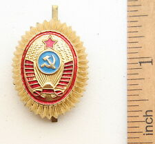 Soviet Union USSR Russian Police Militsiya Hat Cap Badge Cockade