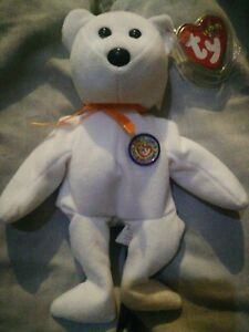 White COLOR ME BEANIE Ty Beanie Babies | Collectables Kids Push Toys