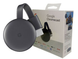 Google Chromecast 3rd Gen HDMI Media Streaming Latest Version New
