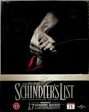 Schindler's List -20th Anniversary Digibook Blu Ray-SEALED-OOP -Steven Spielberg