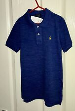 Ralph Lauren Boys Polo Top Short Sleeve Blue Age 4 New With Tags