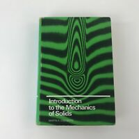 Introduction to the Mechanics of Solids by Martin Eisenberg 1980 Hardcover