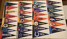 "NEW NFL Football Teams Mini Pennants Pick Your Team 4""x9"" 32 Teams Flag Banner"