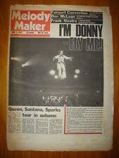 MELODY MAKER 1975 JUN 7 OSMONDS QUEEN SPARKS SANTANA