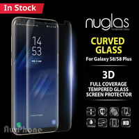 Galaxy S8 S9 Note 8 NUGLAS Tempered Glass Full Cover Screen Protector Samsung