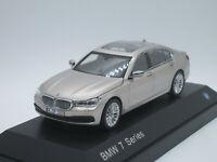 BMW 750Li G12 7 series Long Version X Drive 2018 760li champagne 1/43 Dealer Box