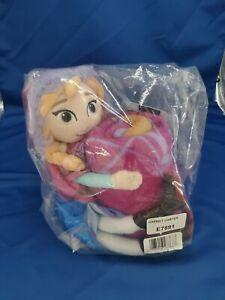"""Frozen Anna 40""""x50"""" Fleece Throw Blanket AND 11"""" Plush Doll Hugger Pillow *NEW*"""