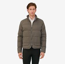 NIB Authentic HERMES Men's Gray Etoupe Sellier Piumino Goose Down Puffer Jacket