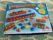 Lakeshore learning- Frogs On A log Counting Kit- Extremely Hard To Find